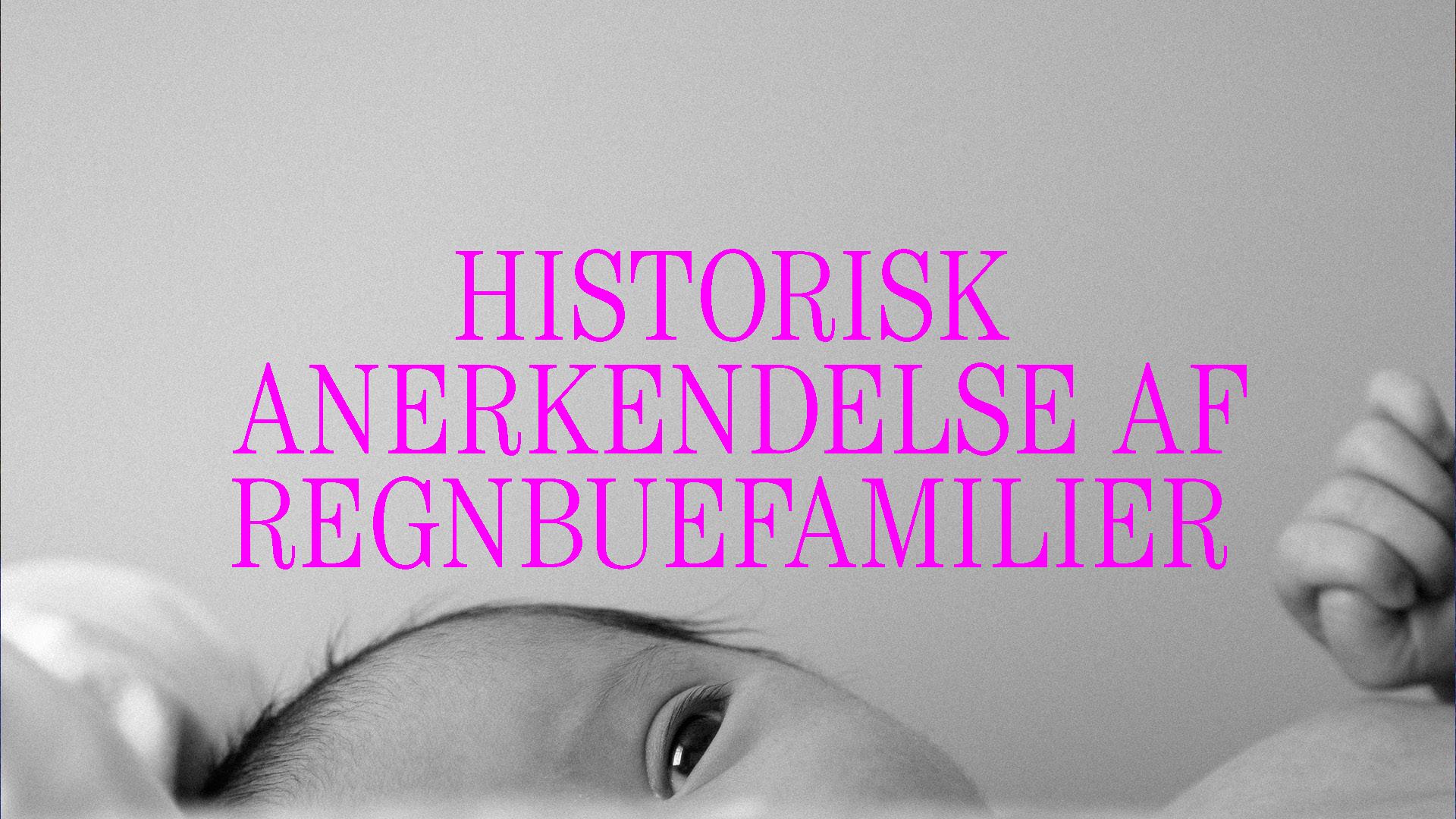Historisk anerkendelse af regnbuefamilier